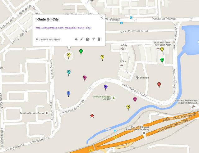 i-Suite @ i-City Map