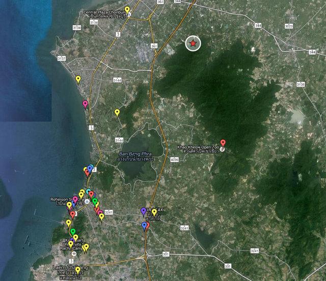 Wat Thammen Map