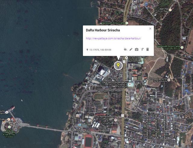 DaRa Harbour Sriracha Map