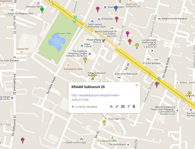 KRAAM Sukhumvit 26 Map