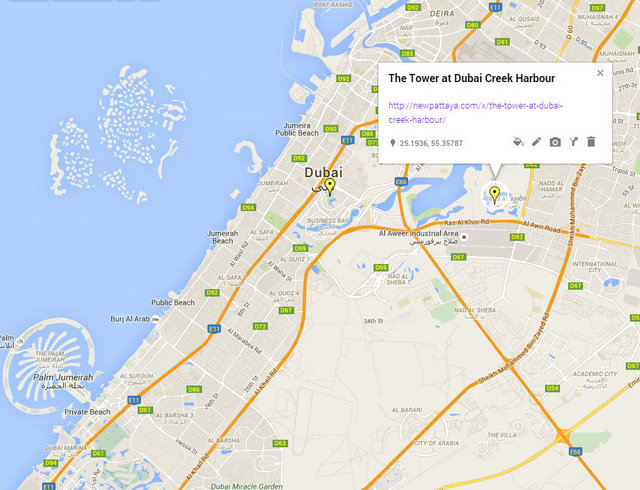 The Tower at Dubai Creek Harbour Map