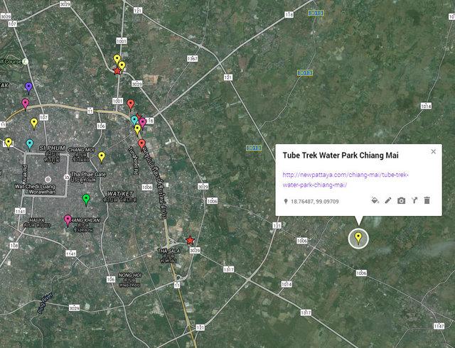 Tube Trek Water Park Chiang Mai Map