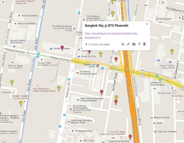 Bangkok Sky Map