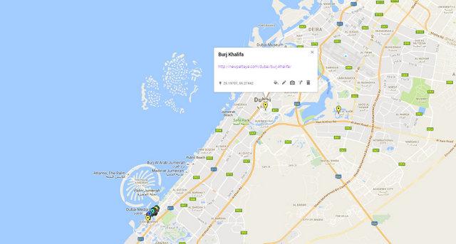Burj Khalifa Map