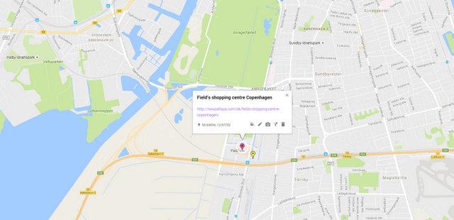 Field's shopping centre Copenhagen Map