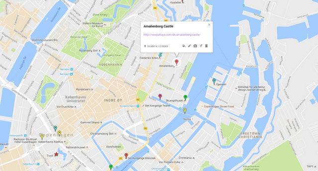 Amalienborg Castle Map