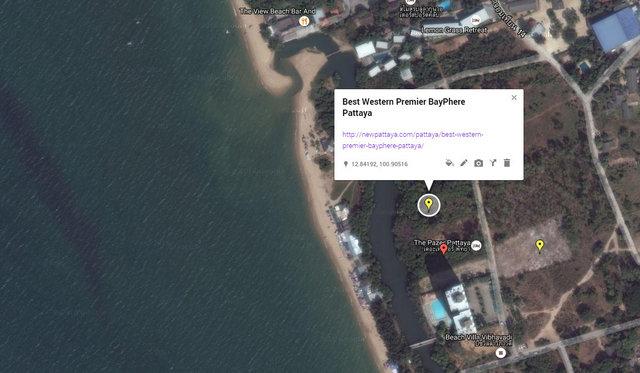 Best Western Premier BayPhere Pattaya Map