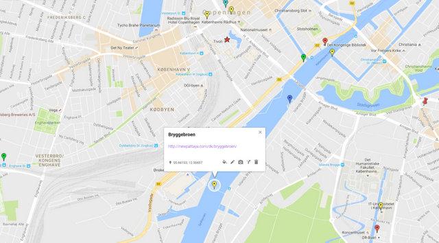 Bryggebroen Map