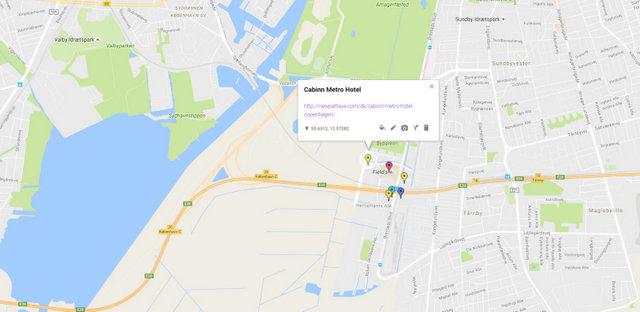 Cabinn Metro Hotel Copenhagen Map
