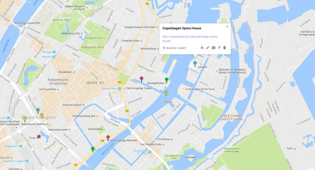 Copenhagen Opera House Map