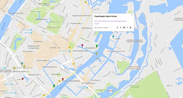 Copenhagen Opera House Map
