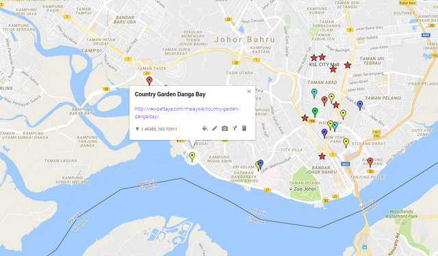 Country Garden Danga Bay Map