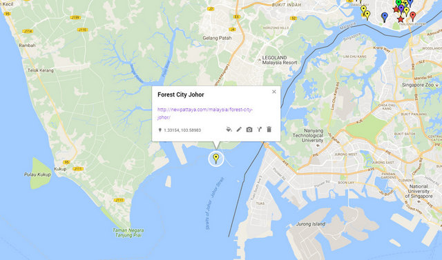 Forest City Johor Map