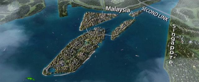 Forest City Malaysia Johor Map