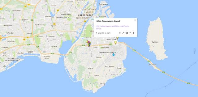 Hilton Copenhagen Airport Map