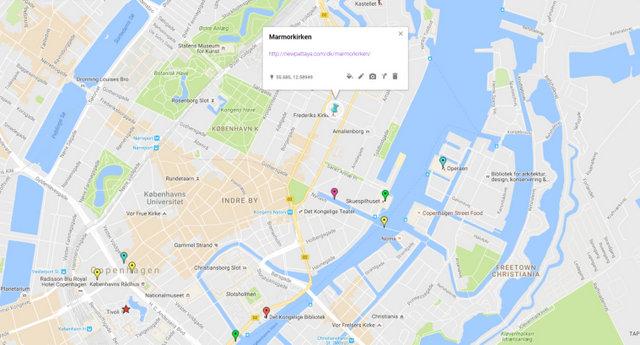 Marmorkirken Map