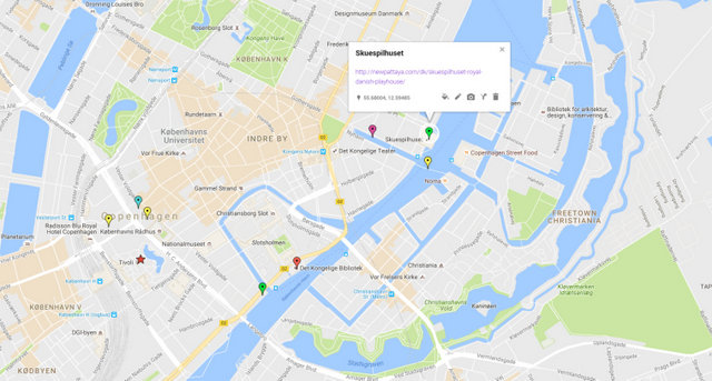 Skuespilhuset Map