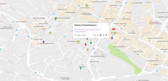 Skyline Orchard Boulevard Map