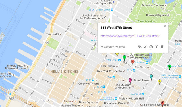 111 West 57th Street Map