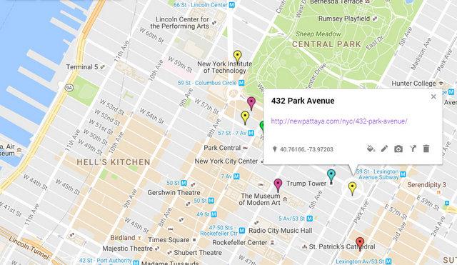 432 Park Avenue Map
