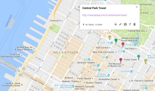 Central Park Tower Map