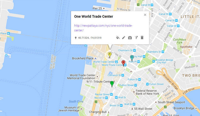 One World Trade Center Map