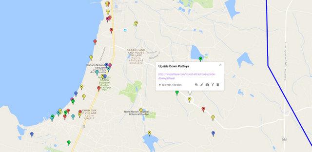 Upside Down Pattaya Map