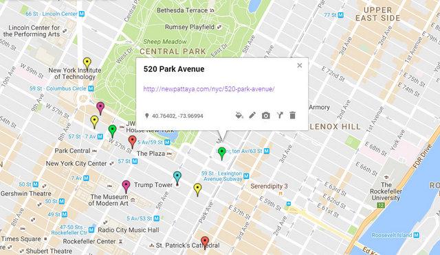 520 Park Avenue Map