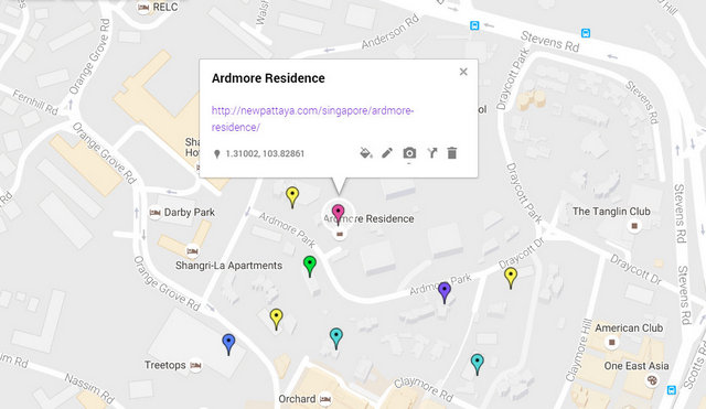 Ardmore Residence Map