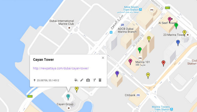 Cayan Tower Map