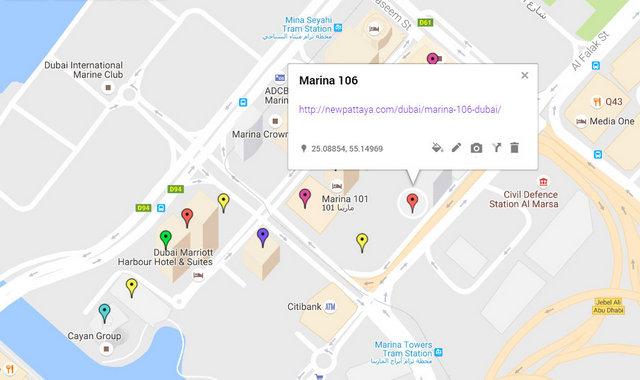 Marina 106 Map