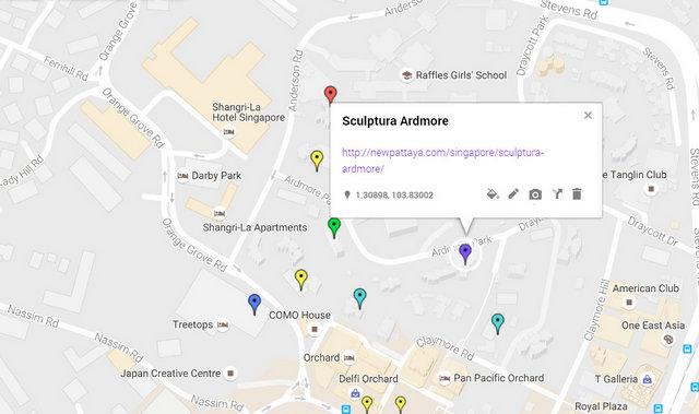 Sculptura Ardmore Map