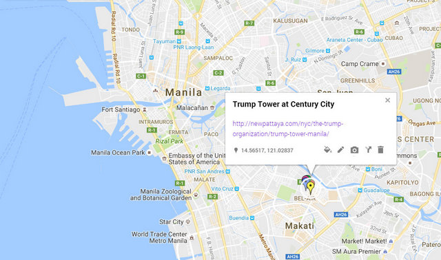 Trump Tower Manila Map