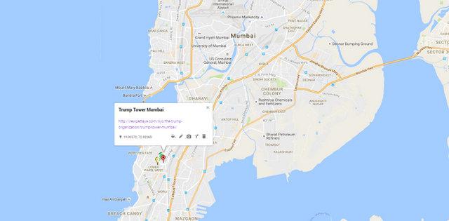 Trump Tower Mumbai Map