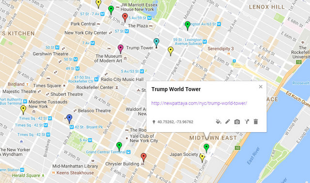 Trump World Tower Map