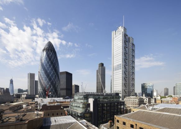 Heron Tower + The Gherkin London