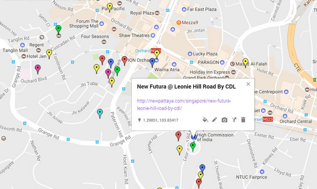 New Futura at Leonie Hill Road Map