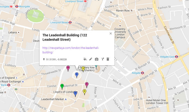The Leadenhall Building Map