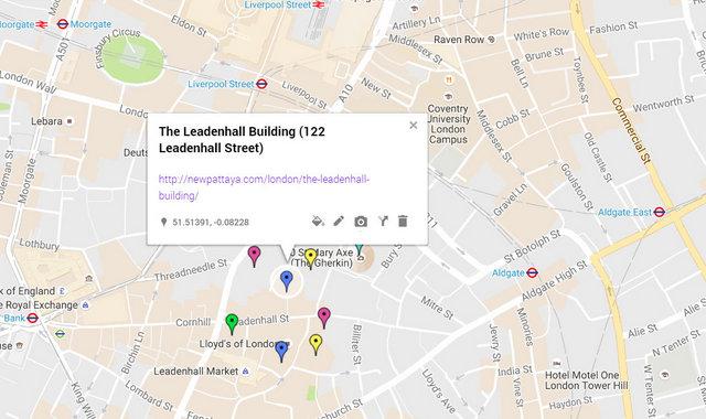 The Leadenhall Building Map