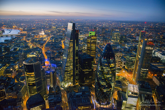 The Leadenhall Building + The Gherkin London