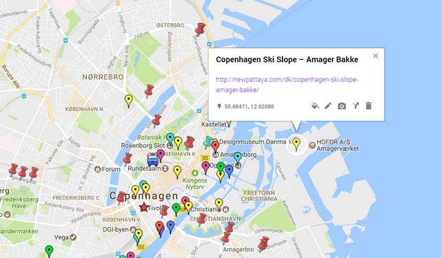 Copenhagen Ski Slope Amager Bakke Map