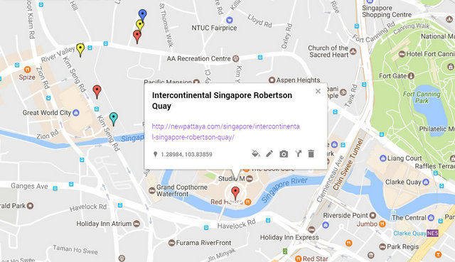Intercontinental Singapore Robertson Quay Map