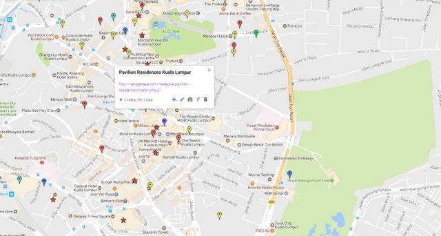 Pavilion Residences Kuala Lumpur Map