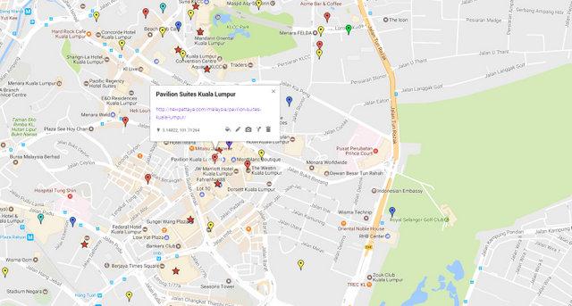 Pavilion Suites Kuala Lumpur Map