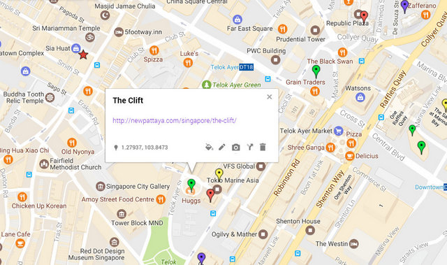 The Clift Singapore Map