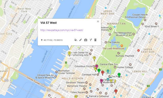 Via 57 West Map