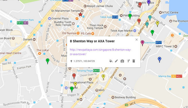 8 Shenton Way or AXA Tower Map