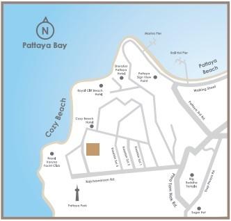 Andromeda Condominium Pattaya Map