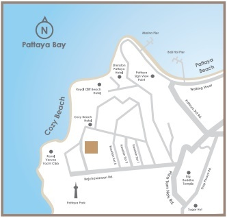 Andromeda Condominium Pattaya Map