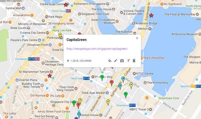 CapitaGreen Singapore Map